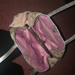 Used coach outlet pink purse, mis-manufactured